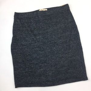 🌵Hollister Gray Ribbed Stretch Knit Pencil Skirt